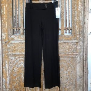 ALFANI A LIST WIDE LEG BLACK Pants WORK 10 NEW